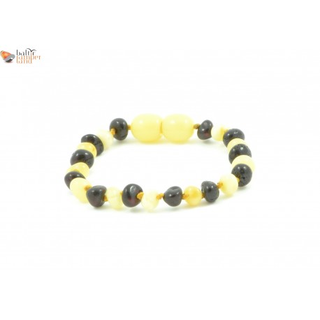 Milky Mix Baroque Amber Teething Bracelets / Anklets