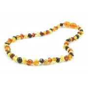 Multicolor Baroque Amber Teething Necklaces