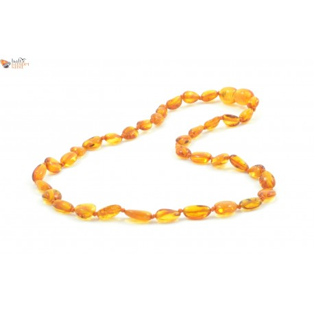Raw Cognac Baroque Amber Teething Necklace for Baby