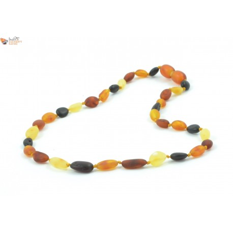 Beans Style Multicolor Amber Baby Necklace