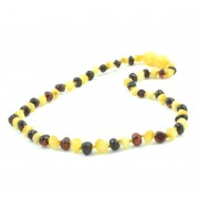 Cognac Beans Style Amber Teething Necklace