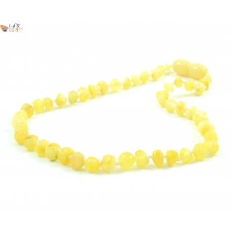 Polished Milky Baroque Amber Baby Necklace