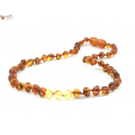 Polished Baroque Mix Amber Necklaces for Baby