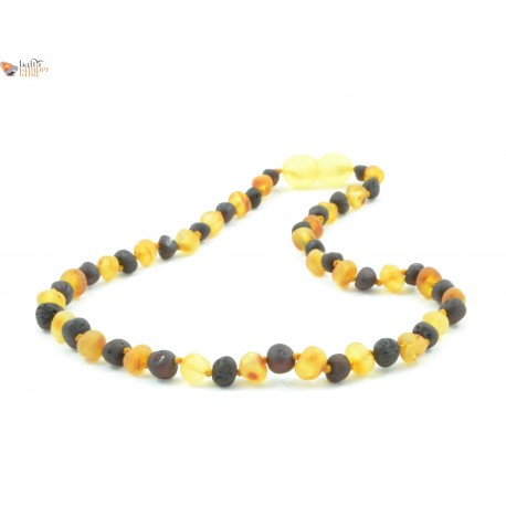 Raw Cognac / Lemon Baltic Amber Baroque Teething Necklace