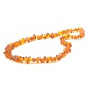 Cognac Color Nugget Style Amber Teething Necklace