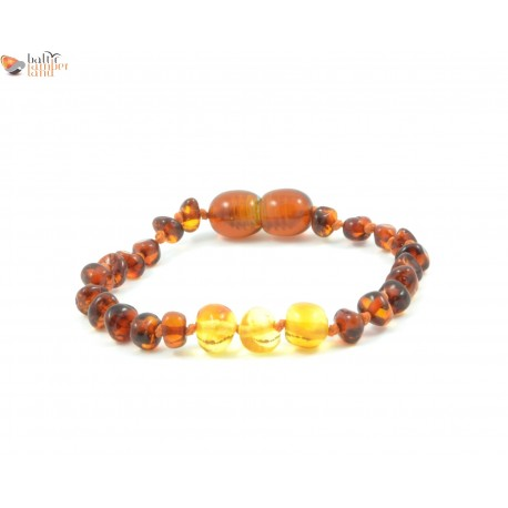 Polished Baroque Mix Amber Teething Bracelets / Anklets