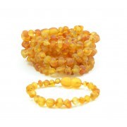 Wholesale LOT of 10 Raw Honey Amber Baby Bracelets / Anklets
