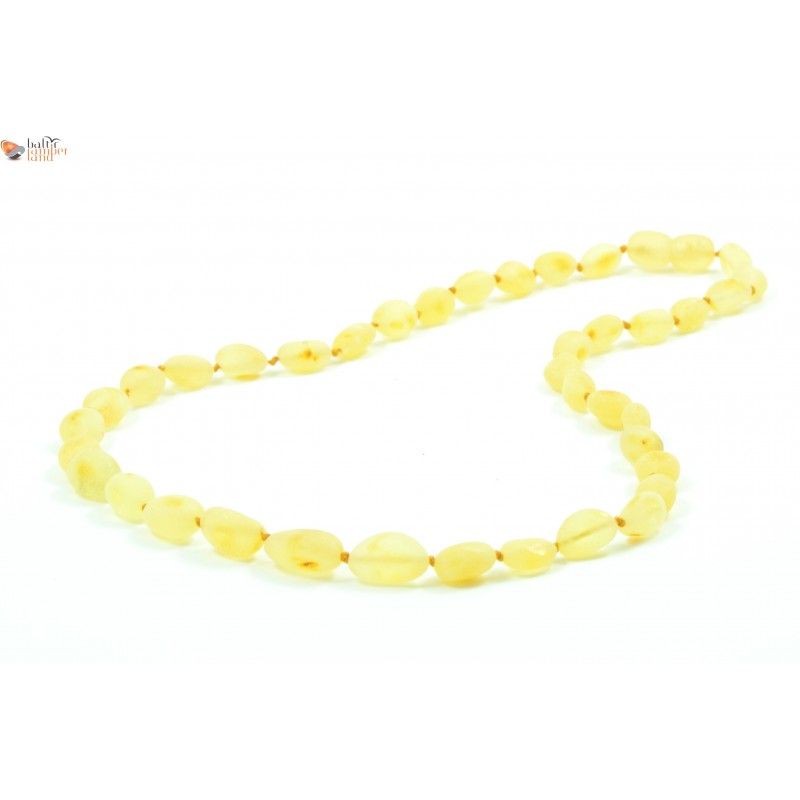 Beans Style Lemon Amber Adult Necklace Baltic Amber Land