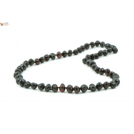 Baroque Style Cherry Amber Necklaces for Adults