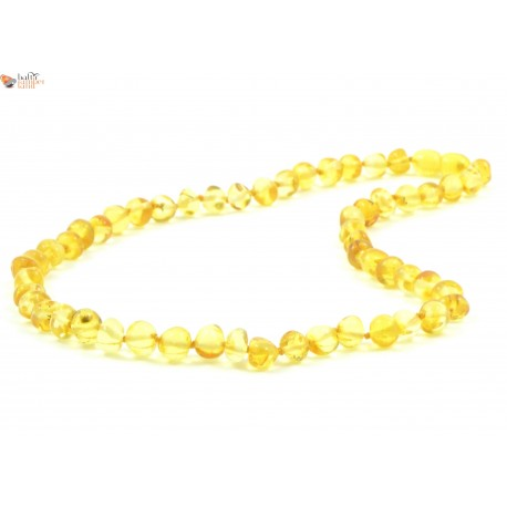 Baroque Style Lemon Amber Adult Necklaces