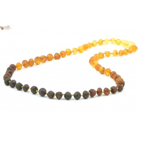 Baroque Style Rainbow Amber Necklaces for Adults