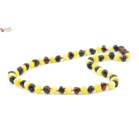 Milky Mix Baroque Amber Necklaces for Adults