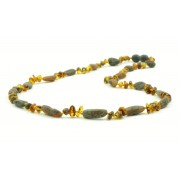 Baroque and Olive Mix Amber Necklaces