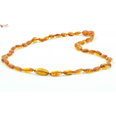 Honey Bean Amber Adult Necklaces