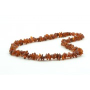 Polished Amber Nugget Necklaces for Adults