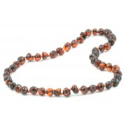 Polished Cognac Baroque Baltic Amber Necklace for Baby
