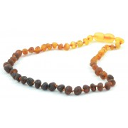 Unpolished Rainbow Baroque Amber Teething Necklace