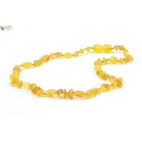 Baroque and Bean Mix Polished Amber Necklaces for Baby