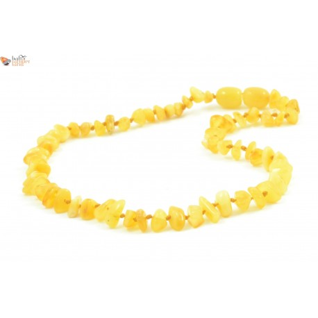 Milky Nugget Amber Necklace for Baby