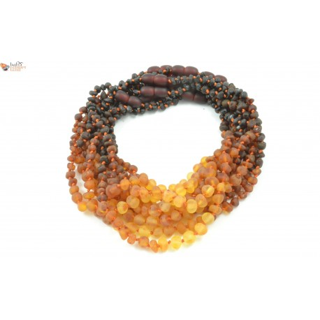 New Whole Lot Of 10 Raw Rainbow Baroque Amber Teething Necklaces