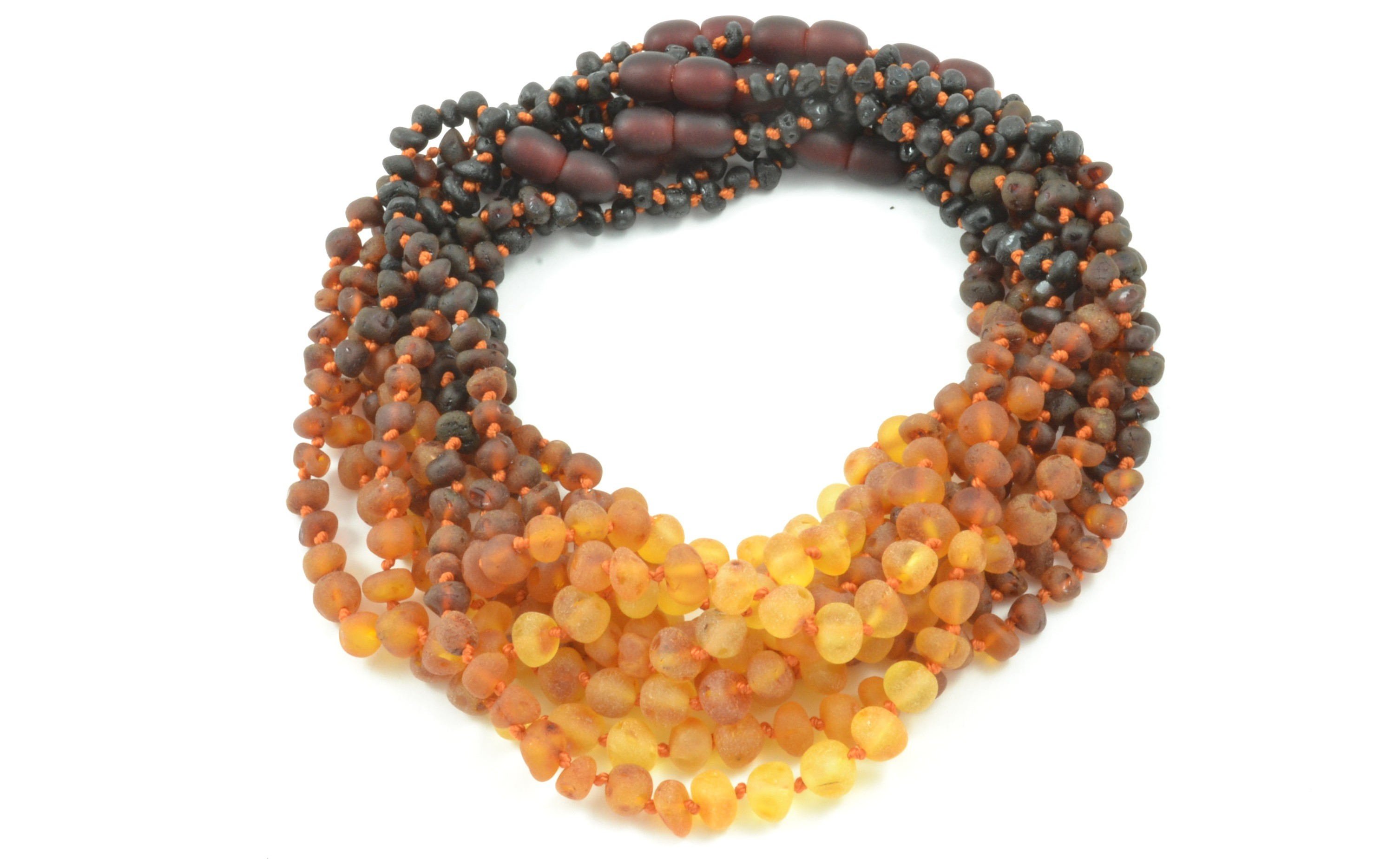 Wholesale LOT of 10 Raw Rainbow Baroque Amber Teething Necklaces - Baltic  Amber Land