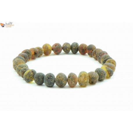 Green Baroque Style Amber Bracelets for Adults