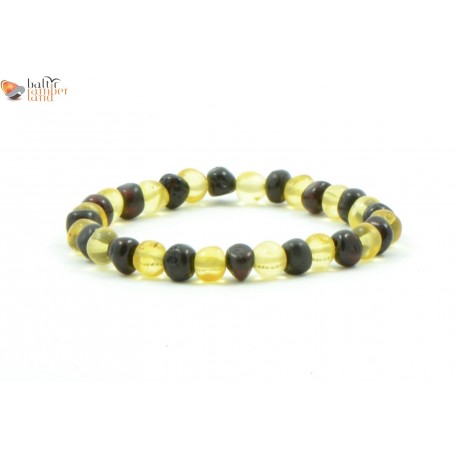 Multicolor Baroque Baltic Amber Bracelets for Adults
