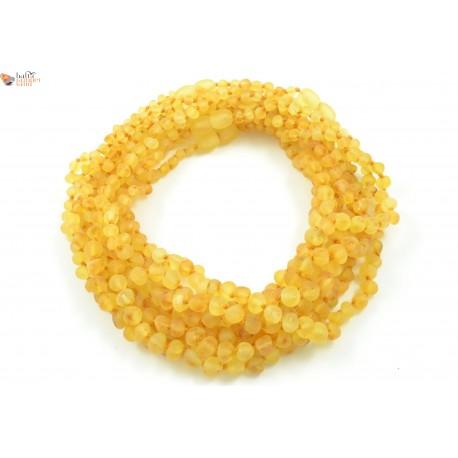 Wholesale LOT of 10 Raw Lemon Baroque Amber Teething Necklaces