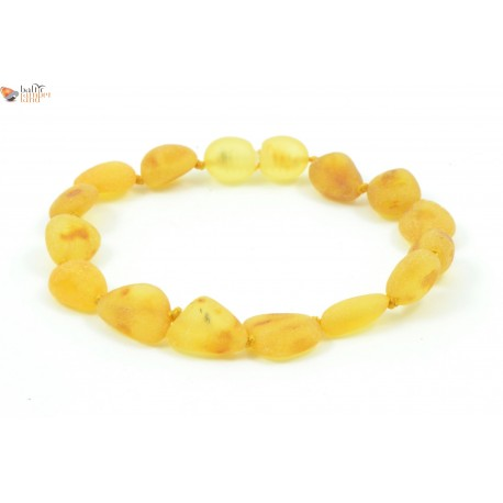 Unpolished Olive Amber Adult Bracelets