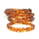 Wholesale LOT of 5 Cognac Amber Adult Bracelets in Baroque Style
