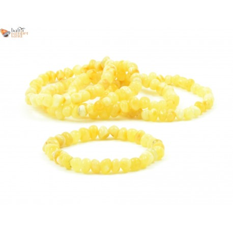 Wholesale LOT of 5 Milky Baroque Amber Bracelets for Adults