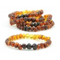 LOT of 5 Rainbow Baroque Amber Bracelets for Adults