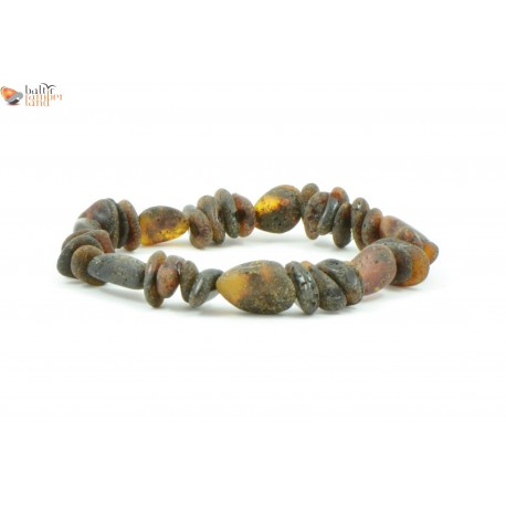 Baroque and Olive Mix Amber Adult Bracelets