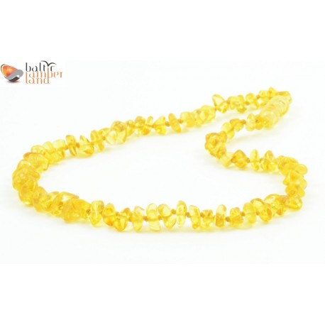 Nugget Style Amber Baby Necklace in Lemon Color