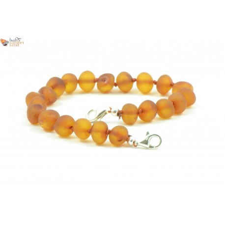 Raw Baltic Amber Anklets with Sterling Silver 925