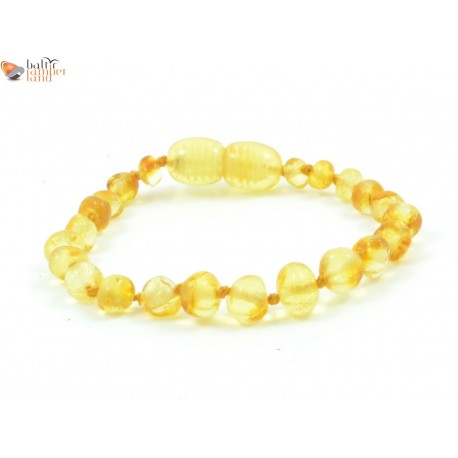 Polished Lemon Baroque Amber Baby Bracelet / Anklet