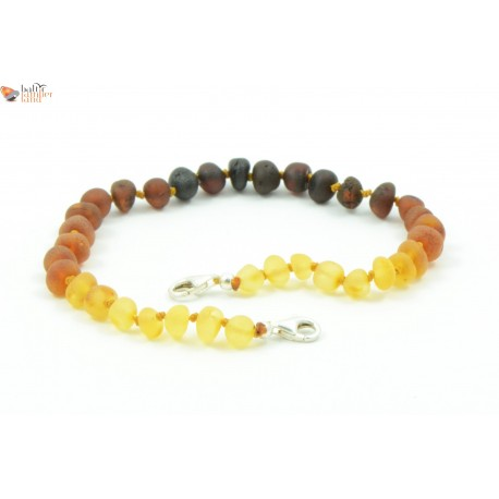 Baltic Amber Anklets with Sterling Silver 925