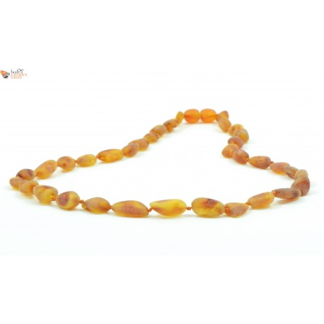 Cognac Amber Adult Necklaces in Bean Style