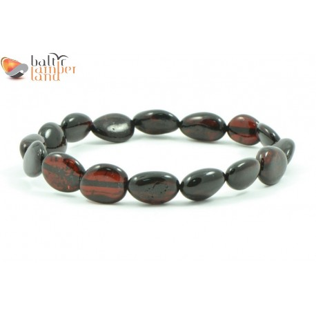 Baltic Amber Bracelets for Adults in Olive Style