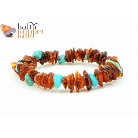 Amber Adult Bracelets in Nugget Style
