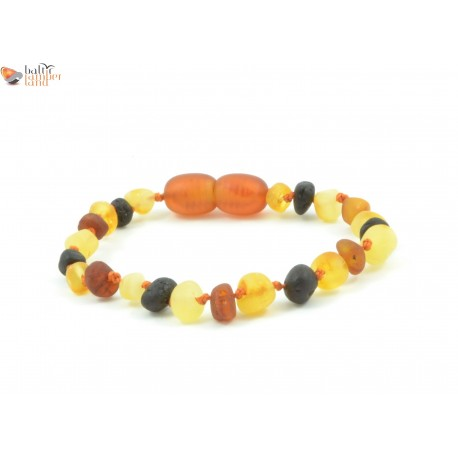 Raw Multicolor Baroque Amber Baby Bracelet / Anklet