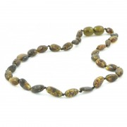 Light Green Beans Style Amber Teething Necklace