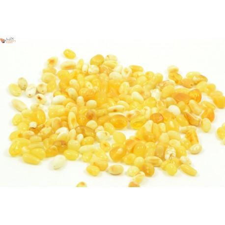 Milky Bean Amber Beads