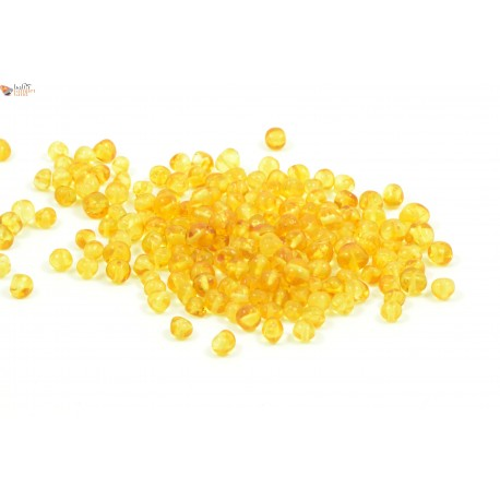 Lemon Baroque Amber Beads