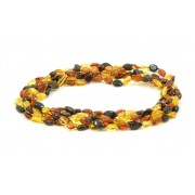 Wholesale LOT of 5 Multicolor Amber Adult Necklaces in Bean Style