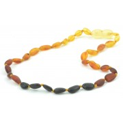 Rainbow Bean Amber Necklaces for Baby