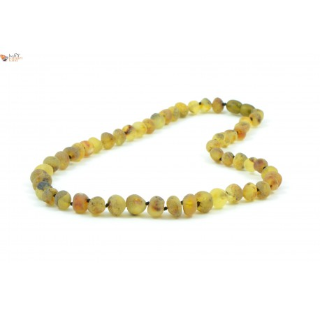 Green Baroque Amber Adult Necklaces