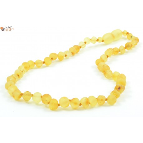 Lemon Amber Baroque Teething Necklace