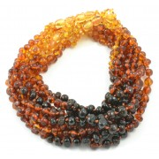 Wholesale LOT of 10 Rainbow Baroque Amber Teething Necklaces