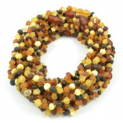 Wholesale LOT of 10 Raw Rainbow Baroque Amber Teething Necklaces